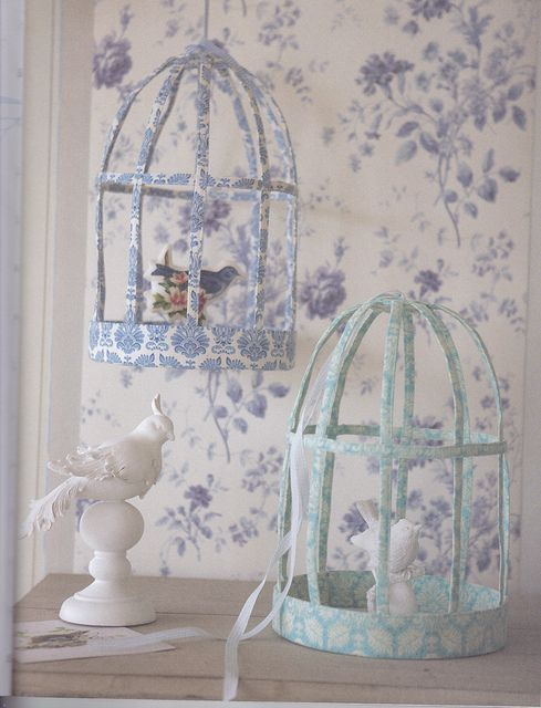 Fabric birdcages from the book Tilda's Studio.
