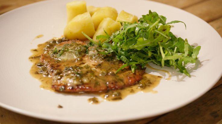 Kalfspiccata met ratte-aardappelen en een rucolaslaatje | Dagelijkse kost