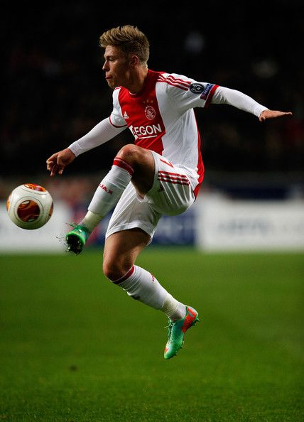 Viktor Fischer Photos Photos - Viktor Fischer of Ajax controls the ball during the UEFA Europa League Round of 32 match between Ajax Amsterdam and FC Salzburg at Amsterdam Arena on February 20, 2014 in Amsterdam, Netherlands. - Ajax Amsterdam v FC Salzburg