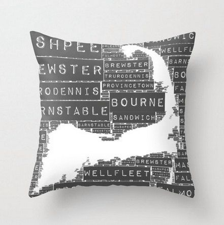 Throw Pillow Cape Cod Towns. Home Decor by BrandiFitzgerald, $34.99
