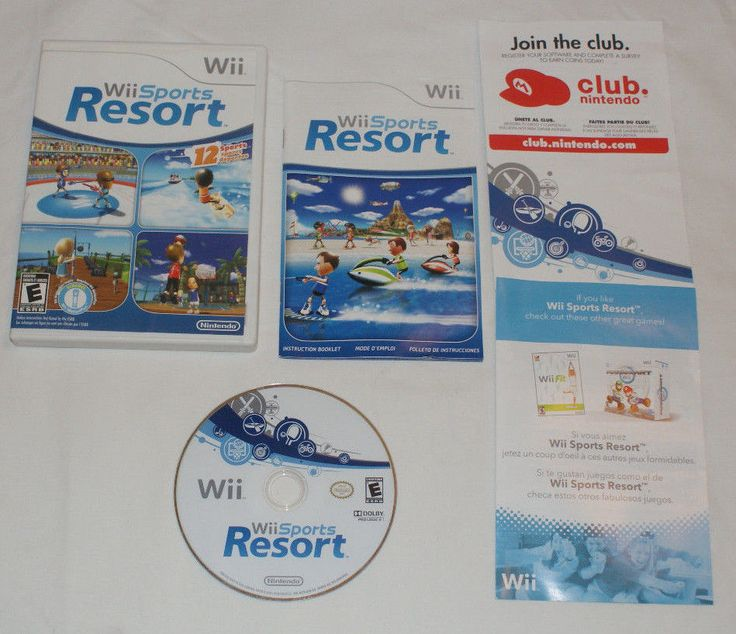 WII SPORTS RESORT FOR NINTENDO WII Complete CIB Wii