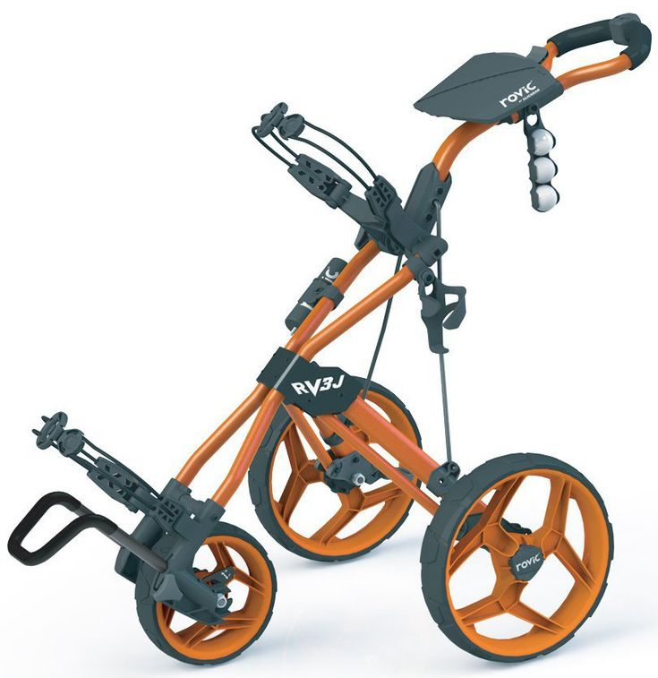 Make your junior golfer feel like a pro with this stylish looking Rovic RV3J junior golf push cart by Clicgear!