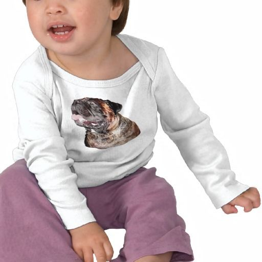 Mastiff Shirts for Babies  Toddlers - Long Sleeve Shirt.  Select other Dog Shirts for Babies or Adults.  132 styles to choose from.  Bullmastiff Gifts.  Meet Max the gorgeous Brindle Bullmastiff. Lots of Brindle Bull Mastiff gifts. Tee Shirts with Dogs on Them, Mugs, Device Cases and more CLICK HERE: http://www.zazzle.com/littlelindapinda/gifts?cg=196398569482027705&rf=238147997806552929*/   ALL of Little Linda Pinda Designs CLICK HERE: http://www.Zazzle.com/LittleLindaPinda*/.