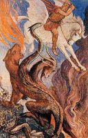 """Son nom se rattache à une racine désignant le froid, l'hiver ( cf grec """"Kheimmôn"""", latin """"hiems"""") ; elle est fille de Typhon et d'Echidna, e..."""