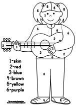 music coloring pages by numbers - photo#36