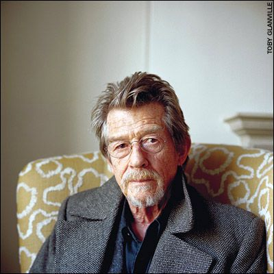 John Hurt- Extraordinary Actor. Have seen him onstage and it was when I knew I wanted to be an actor. The Elephant Man himself.