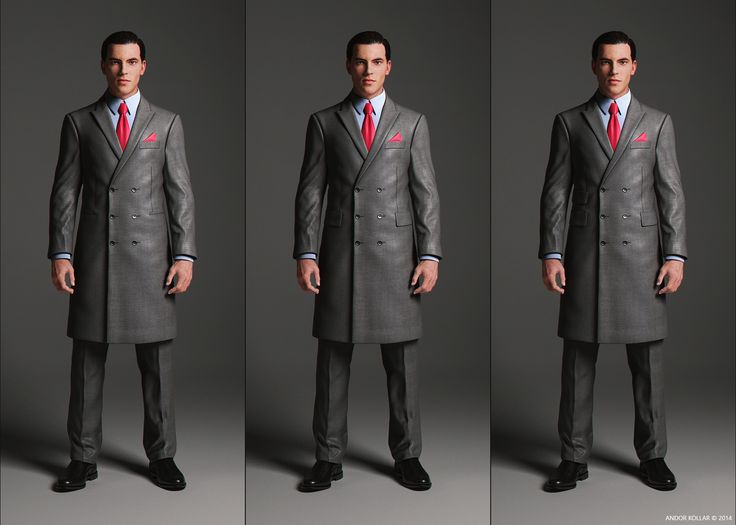 Double Breasted Overcoat with peaked lapel and pocket variations