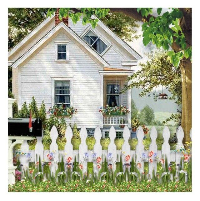 1000 Ideas About White Picket Fences On Pinterest
