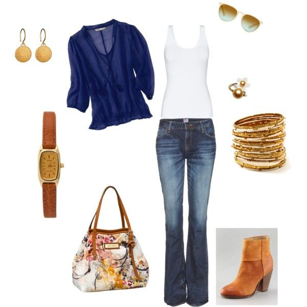 Bangles, Boots & Blue, created by poetif on PolyvoreYay Clothing, Polyvore Wrong Boots, Clothes'S Sho, Ole Gringo, Style Pinboard, Personalized Style