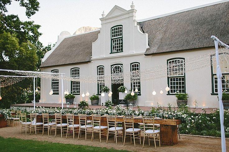 Elegant& sophisticated farmstyle wedding at Cape Dutch manor house