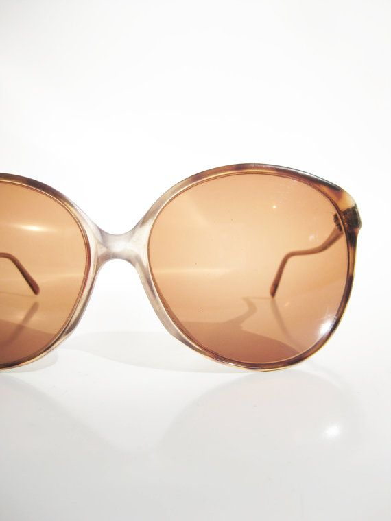 Vintage Rodenstock 1970s Oversized Huge Sunglasses Sunnies Womens Sunglasses Smoke Tortoiseshell Light Brown 70s Germany German Hipster