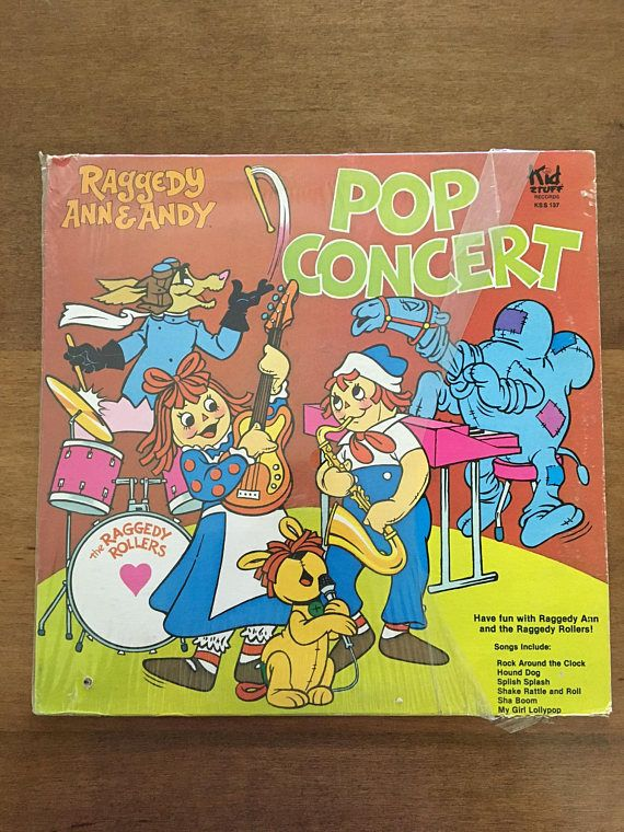 Raggedy Ann & Andy Pop Concert 1980 Vintage Collectible Vinyl Record LP Vinyl Record Album