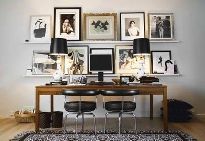 loving this...sleek lines mixed with sweet, vintage decor.
