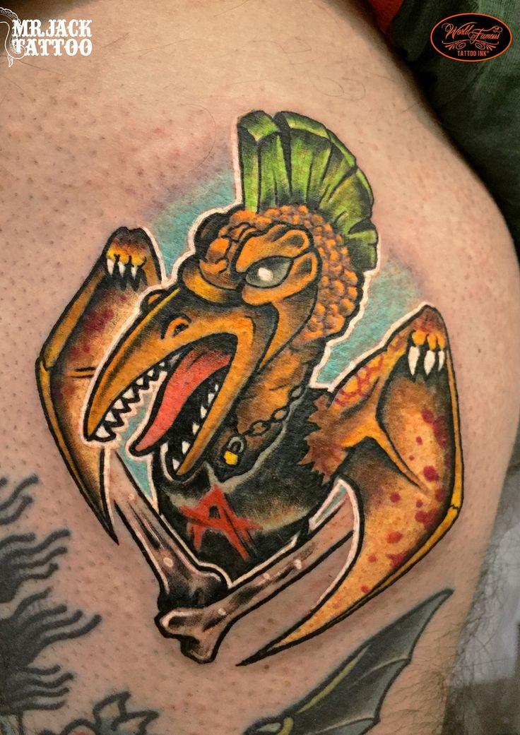 #pterodattilo #punk #tattoo #tattooartist #colortattoo #mrjack #mrjacktattoo #mrjacktattooartist #tatuaggio #bodyart #arte