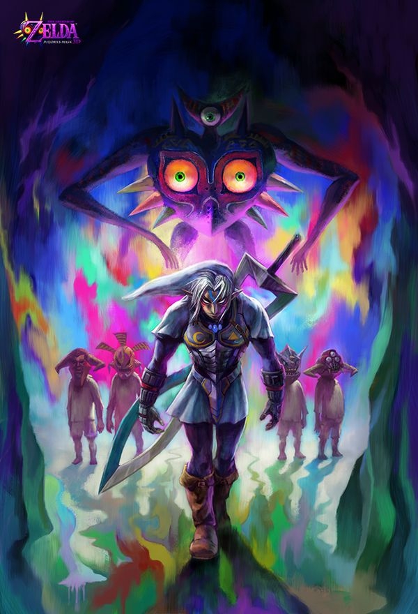 More artwork of Majora's Mask 3D. The game looks even better in the recently released trailers. I'm looking forward to playing it.