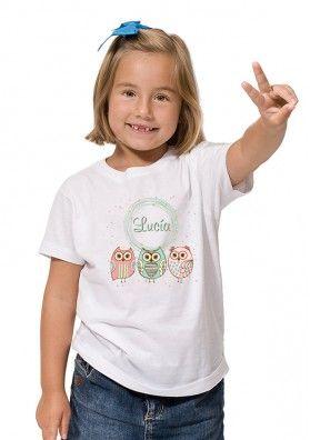 Camiseta Bebé Retro Búho
