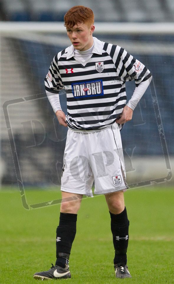 Queen's Park's Liam Brown makes his debut during the SPFL League Two game between Queen's Park and Elgin City.
