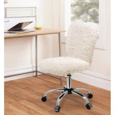 Buy Urban Shop Faux Fur Task Chair at Walmart.com - - Free Shipping on orders over $35
