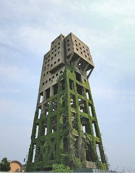 When the Zombie Apocalypse finally arrives, the winding tower at Japan's abandoned Shime coal mine is where you want to be. This stark, partially moss-covered concrete colossus has been abandoned for nearly a half century yet its moldering remains serve as a reminder of a harsh industrial past when coal fueled mighty engines of destruction