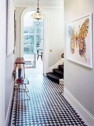 Les 118 meilleures images propos de carrelage damier sur pinterest nantes interieur et tuile for Comcarrelage mural noir et blanc