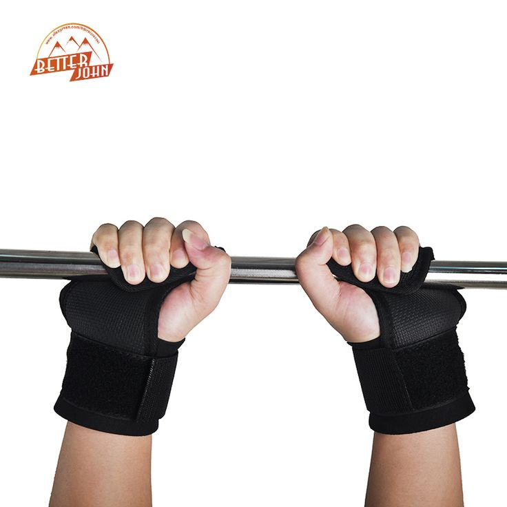 Pair Adjustable Fitness Wrist Support Weight Lifting Hooks Sport Training Gym Grips Straps Support Gloves