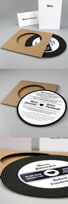 wedding cards, invitation, design, modern, creative, unusual, music, fashionable, vinyl, great, idea                                                                                                                                                                                 More