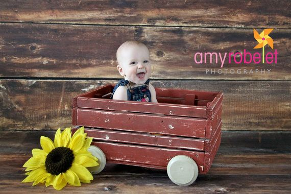 Photo Prop Wagon Rustic Red -child or newborn photography prop- country prop- antique prop