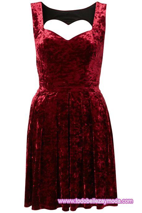 vestido rojo terciopelo 2011
