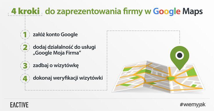 Pozycjonowanie wGoogle maps wczterech krokach