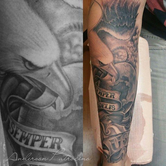 awesome Top 100 usmc tattoos - http://4develop.com.ua/top-100-usmc-tattoos/ Check more at http://4develop.com.ua/top-100-usmc-tattoos/