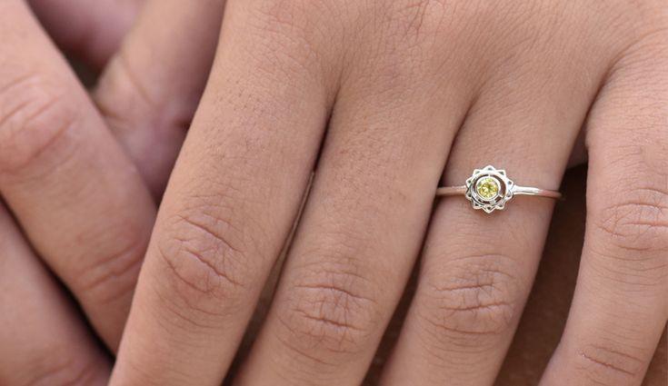 Solar Plexus Chakra Ring. 9k Yellow Gold / Yellow Sapphire.