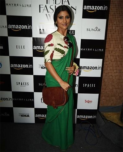 Konkona Sen Sharma in Raw Mango Saree