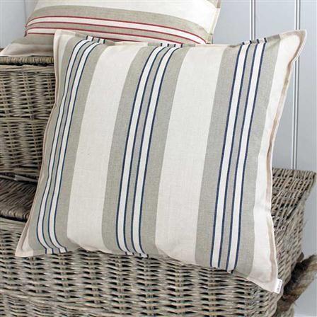 Biggie Best French Stripe Cushion, Blue