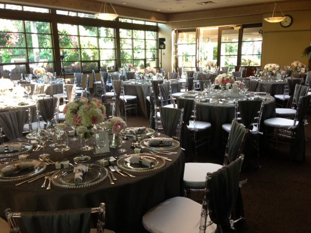 Cypress Room Reception with Silver Chivari Chairs