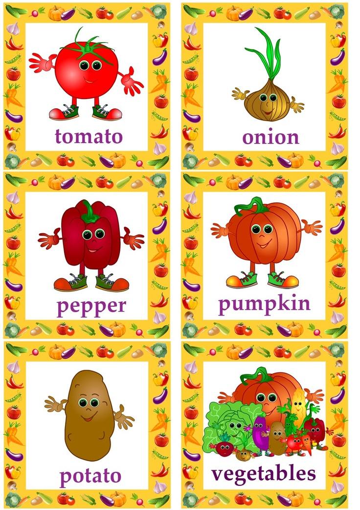 vegetable flashcards for kids learning English#esl flashcards