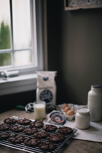 {<3} Salted spicy double chocolate cookies by Beth Kirby | {local milk}.