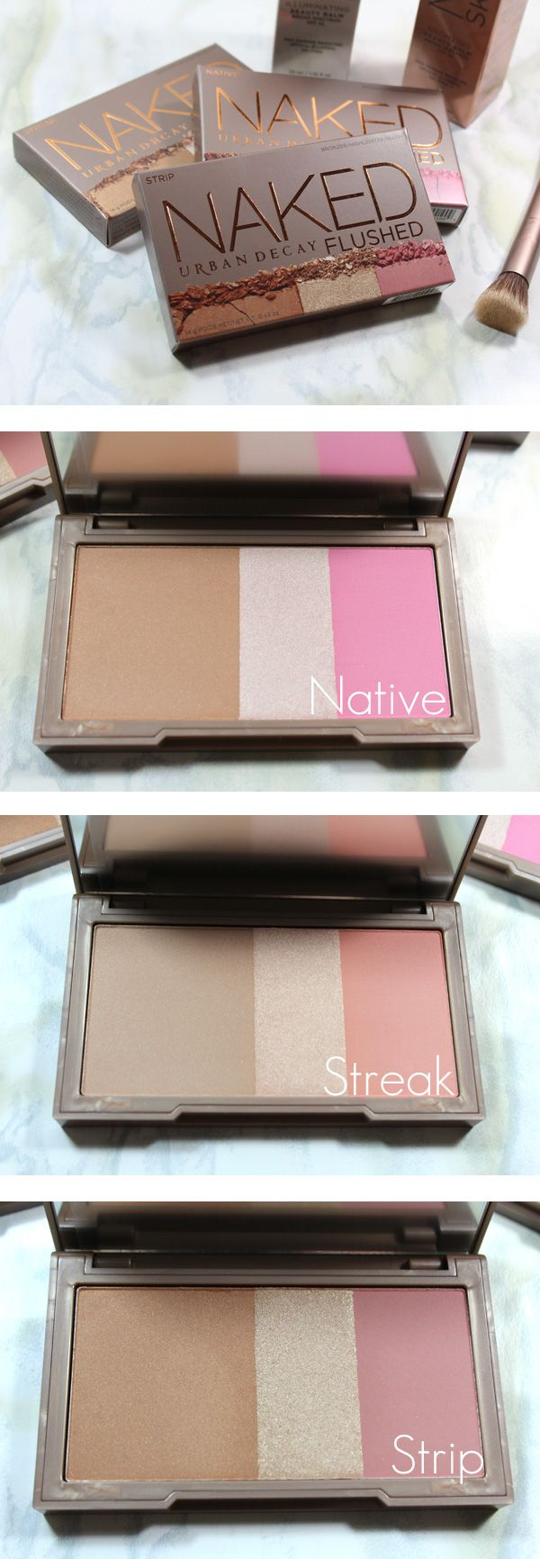 Urban Decay Naked Flush Cheek Palettes via beautifulmakeupsearch.com