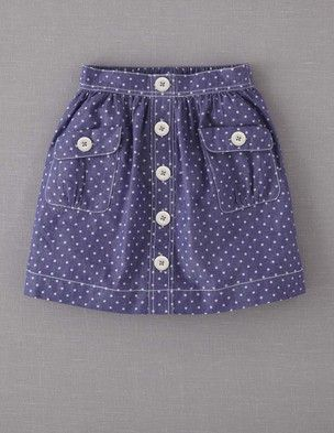 SPOTTY CHAMBRAY SKIRT from Boden
