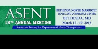 베데스다 미국 신경치료임상 학회의 ASENT 2016 Annual Meeting of the American Society for Experimental NeuroTherapeutics