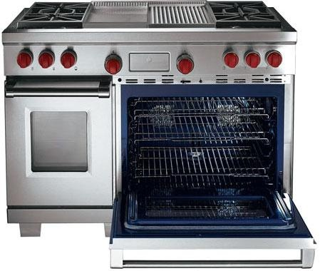 Wolf Professional Gas Or Dual Fuel Range With Griddle, Grill U0026 Dual Ovens
