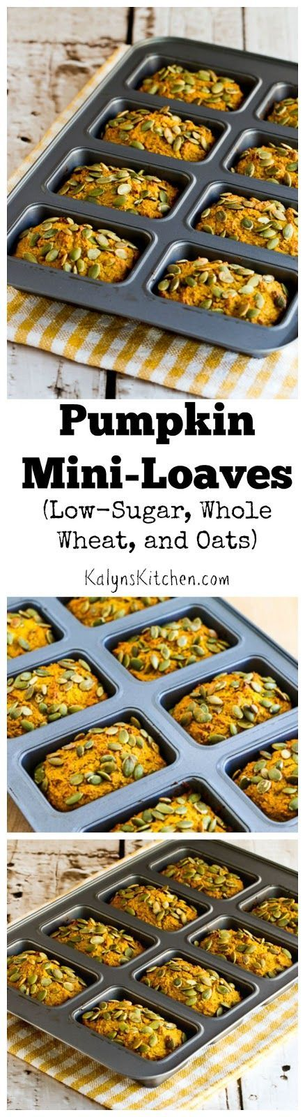 These Low-Sugar, Whole Wheat, and Oats Pumpkin Mini-Loaves were so delicious I…