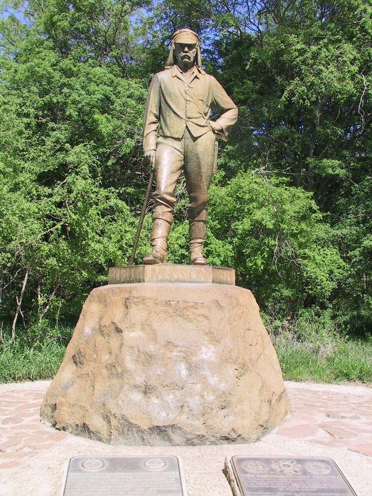 David Livingstone statue at Victoria Falls