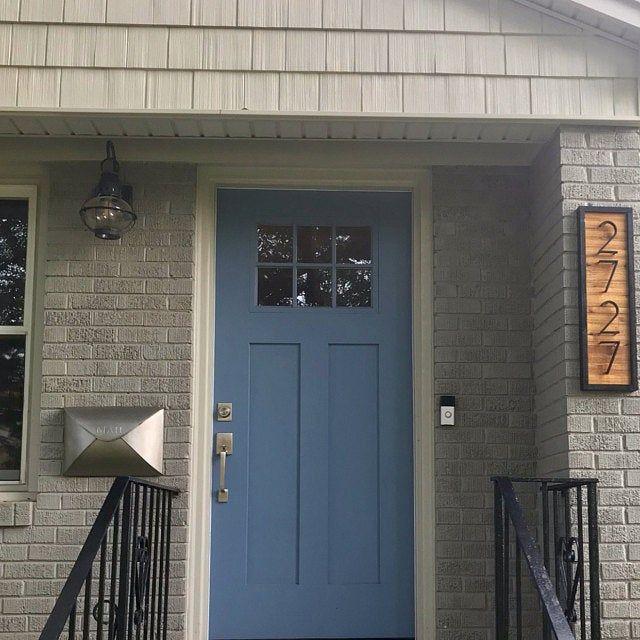 Double Decker Cedar House Numbers Cedaraddress Sign Black House Numbers Address Plaque Cedar Homes House Numbers Black House