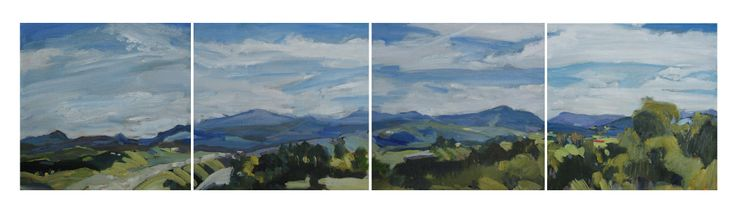 Overview. Oil on calico on board. 4 panels.