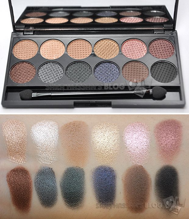 Sleek MakeUP - Storm Palette. Perfect travel and all round palette, with both matte and metallic shadows it works both day and nights.