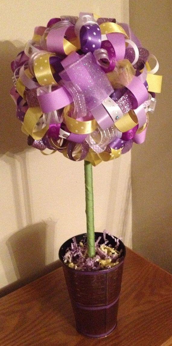 Princess Sofia Inspired Ribbon Topiary. by FlourGardenTreats, $33.00