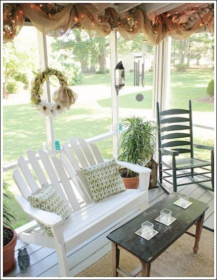 49 best images about screened porches patios on pinterest for Cute front porches