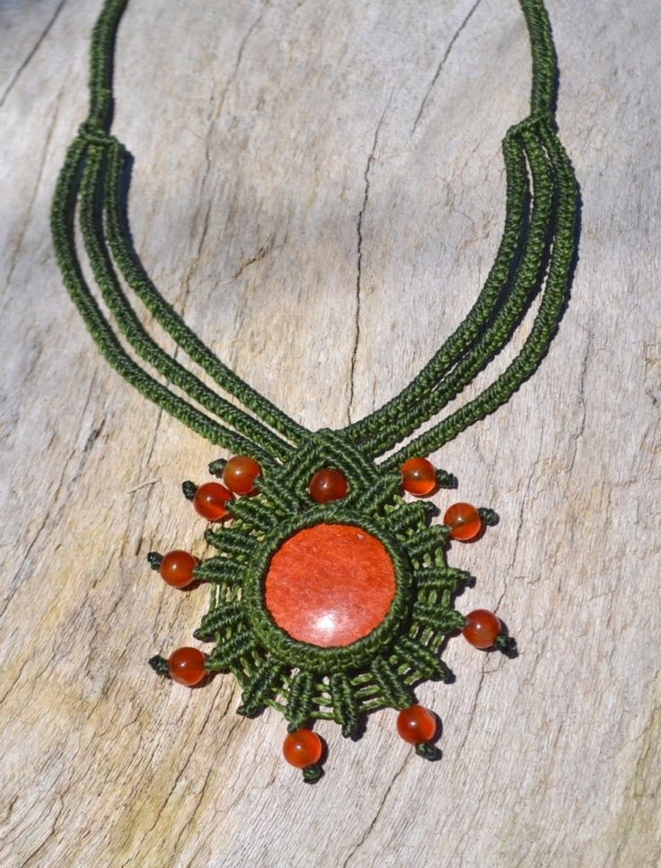 One of a Kind, Macrame Necklace by Coco Paniora Salinas of Rumi Sumaq