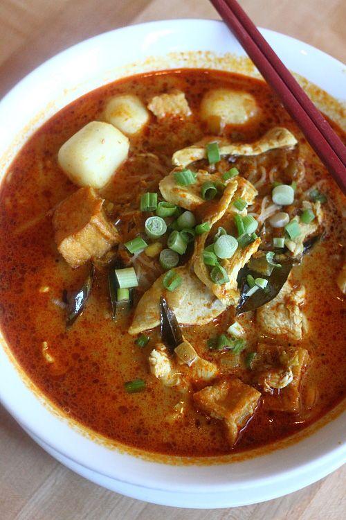 more Asian street food at Las Vegas! - Curry Laksa - at SATAY in Las Vegas.