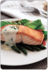 Salmon with dill sauce - from Heart Foundation
